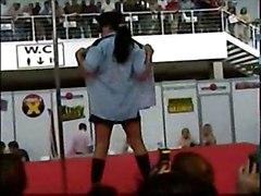 brunette bigtits solo teasing public exhibitionist