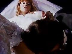 Redhead Bride Has Fun On The Way To The Church