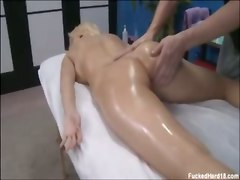 busty blonde big tits massage oil ass reality