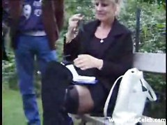 Crazy French Old Mature Fucking In Garden