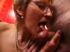 stockings hardcore interracial blowjob mature threesome glasses pussyfucking fisting granny