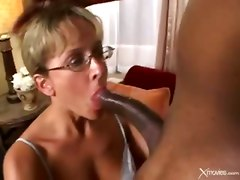 glasses anal interracial facial