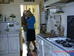Hot Blonde Fucked In The Kitchen