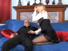 pantyhose nylons crotchless ripping lingerie fucking blonde pussy fetish busty Alanah Rae