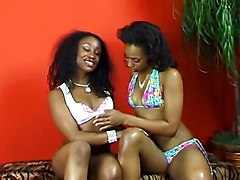 AllGirl Lesbian Toys Licking Fingering GirlGirl Bigtits Ebony Blackhair HarponLesbian Ebony