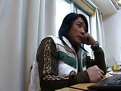shower japanese asian hairy dildo