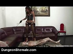 shemale fuck guy anal domination fetish stockings