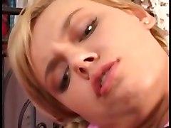 ellen saint pretty blonde anal bed blowjob cum
