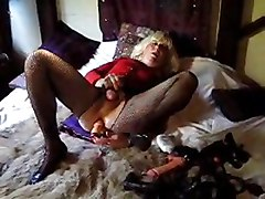 crossdresser masturbation dildo toy solo amateur