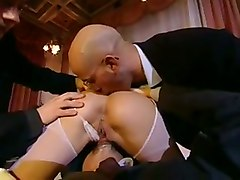 brunette maid anal blowjob