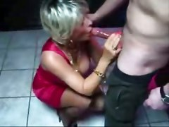 amateur homemade couple wife blowjob mature big tits teasing wet babe close up blonde natural bathroom