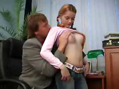 Teen Girl and Boss