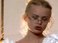 wedding bride glasses oral sex blonde cumshot