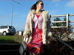 Piss Fur Coat Public OutdoorPiss Public   Out Door