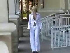 Outdoor Blonde Big Tits MILF Mom Tight Teasing Wife Rubbing Lingerie Striptease Panties Pussy Babe