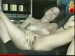 amateur homemade solo softcore brunette tight skinny masturbation close up pussy wet ass teasing rubbing couch toys dildo natural retro