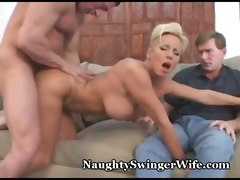mature swinger cheater cheating milf blonde cumshot voyeur