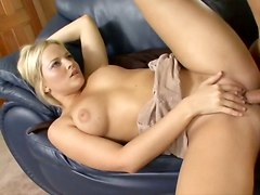 hot blonde big boobs pussy blowjob riding cock
