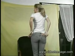 french teen 18 blowjob blonde doggystyle cum