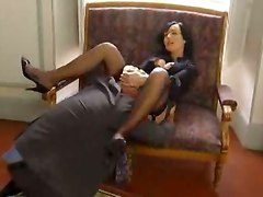 pussylicking deepthroat face fuck gagging handjob blowjob doggystyle riding brunette teasing lingerie stockings office panties big tits fingering voyeur cumshot european reality