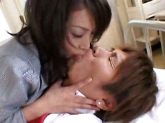 teen Japanese hairy pussy lick sex