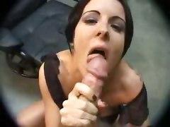 amateur homemade teasing blowjob brunette couple girlfriend tattoo big tits natural cumshot facial pov