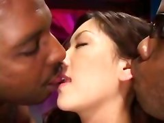 japanese black ebony gangbang interracial asian