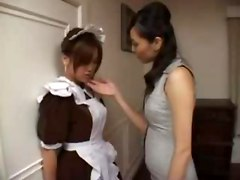 horny Japanese Japan JPN Asians Asian maid costume fetish lesbian lesbians fingering