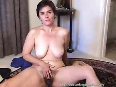 masturbation mature hairy pussy solo brunette