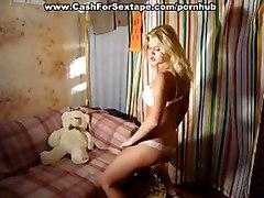 amateur blonde dancing stripping solo masturbating homemade