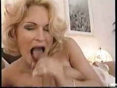 cum blonde milf suck mature cum swallowing lady