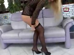 fishnet blonde european anal hardcore double penetration babe blowjob Couple groupsex double blowjob fingering lingerie