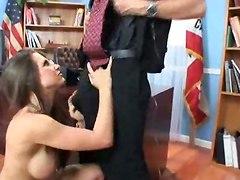 office sex blowjob cum deep throat facial