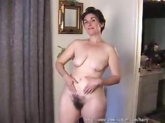hairy solo mature pussy masturbation