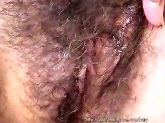 masturbation mature hairy pussy solo brunette