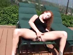 red head teasing outdoor solo masturbation gagging deepthroat blowjob handjob face fuck anal gaping rough sex ass cumshot facial pornstar ass to mouth big tits