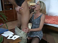 mom  blonde  mature  blue eyes  blowjob  clothes off  cock ride  wife  housewife  from behind  home Bridgett Lee  Bill Bailey