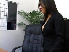 secretary pantyhose office nylons crotchless ripping bra lingerie fucking