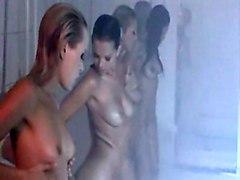 lesbian fingering wet pussylicking shower