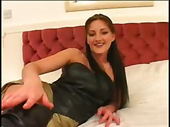 latex brunette big dick fingering anal pussy ass to mouth cumshot facial handjob blowjob