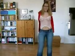 german russian milf striptease dancing fishnet chubby ass stockings rubbing glasses ass pussy masturbation blowjob cumshot facial amateur homemade brunette couple wife