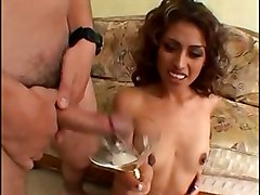 cumshots swallow pornstar small tits fetish brunette