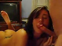 Tight Teen Teasing Brunette Pussy Rubbing Spanking Blowjob Deepthroat Couple Girlfriend