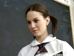 innocenthigh nude teen schoolgirl student brunette