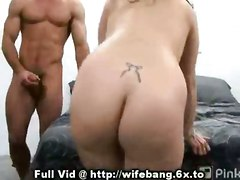 cumshot facial hardcore milf brunette tattoo pussyfucking housewife voyeur reality straight