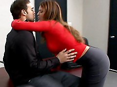 seduce  long hair  stylish  tall  blowjob  clothes off  penetration  desk Monique Fuentes