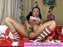 Sweet asian teen playing with her dildo asian street meat