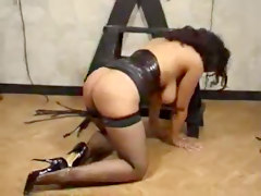 BDSM Masturbation Stockings