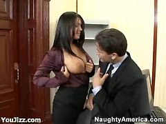 surrender boss pecker tempting busty babe