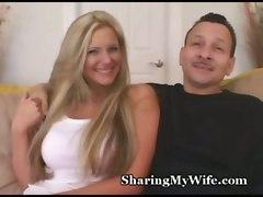 cuckold big tits blonde swinger wife milf ass cumshot blowjob